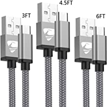 USB C Cable Aioneus 3FT 4.5FT 6FT USB Type C Cables 3Pack Nylon Braided Charger Cord Fast Charging Cable Compatible with Samsung Galaxy S10/S8/S9/A40/A50/A70,Huawei P9/P30/P20,Sony,Nintendo Switch