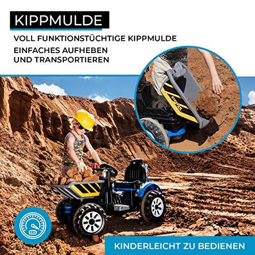 RC Auto kaufen Kinderauto Bild 5: Actionbikes Motors Kinder Radlader JS328C 2 x 25 Watt Motor Elektro Lader Kinderauto Kinderfahrzeug Spielzeug für Kinder Kinderspielzeug (Grün)*