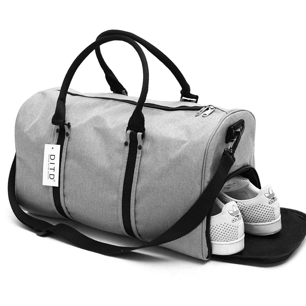 DITD大容量モバイルトラベルバッグスポーツフィットネスバッグ防水トラベルバッグダッシュトラベルバッグトラベルバッグ男性と女性0087(ラージライトグレー)
