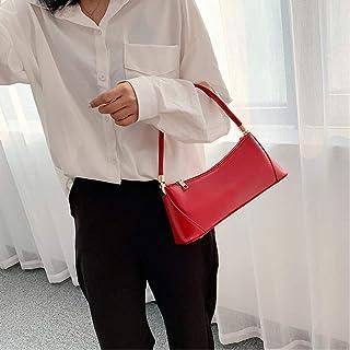 Women'S Solid Color Pu Leather Handbag Shoulder Bag Female Small Elegant Tote Bag Ladies Handbag Luxury Handbag