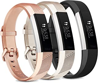 """Pack 3 Silicone Bands for Fitbit Alta HR & Fitbit Alta Replacement Wristbands for Women Men Small Large (Small: for 5.5""""-6..."""