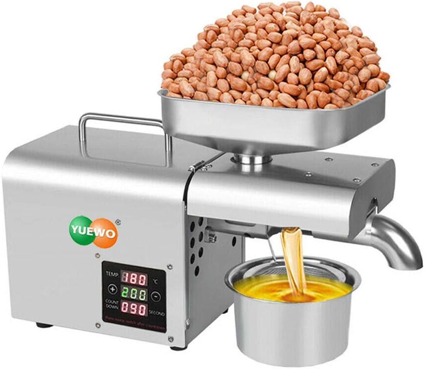 YUEWO Aceite de máquina de la prensa el hogar, control automático de temperatura de aceite Extractor 700W Pantalla táctil