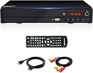 DVD Player for TV,with HDMI AV Output, Karaoke MIC, USB Input, Built-in PAL NTSC System, All Region Free, HD1080P DVD CD P...