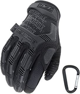 Mechanix WEAR M PACT Tactical Einsatz Handschuh, optimaler Schutz, atmungsaktiv beste Passform + Gear Karabiner, Schwarz Covert, Coyote, Multicam, Wolf Grey, Größe: S,M,L,XL