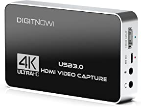 $89 » Sponsored Ad - DIGITNOW 4K HD USB 3.0 Video Capture Card with HDMI Loop-Out, 4k 60Hz No Lag Passthrough for Video Recordin...