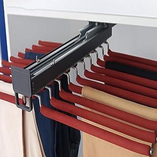 FACC Pantalon Cintres, Porte-Pantalons Télescopique, Cintre Gain De Place, pour Rangement Dressing Coulissant Pantalons O...