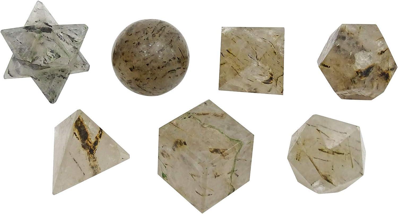 HARMONIZE Rutile Stone 7 Pieces Heali Geometry Reiki Save Dallas Mall money Sets Sacred