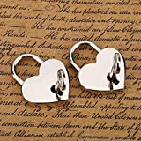 2 sets Heart-shaped Padlock & Skeleton Metal Lock for Luggage Diary Book Jewelry Box Decorative Mini Lock
