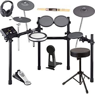 Yamaha DTX522K Electronic Drum Set Kit With Drum Throne, On-Ear Stereo Headphones, and Drum Sticks