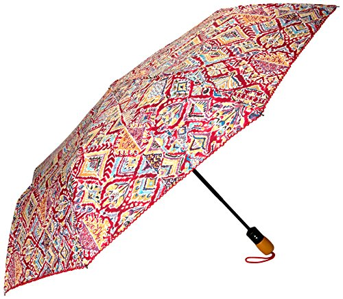 Sakroots Aritst Circle Boxed Umbrella, Sweet Red Brave Beauti