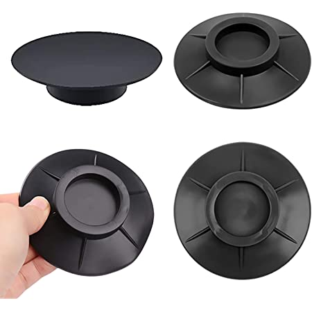 Lot de 4 amortisseurs de vibrations en caoutchouc - Antidérapants - Antivibration - Tapis de protection en silicone - Anti-vibration - Tapis anti-chocs - Tapis anti-vibration pour machine à laver