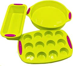 Silicone Bakeware Pan set Cake Molds for Baking Sheet Muffin 12 cup Toast Loaf Bread Pizza Pan Tray Round Square With Hand...