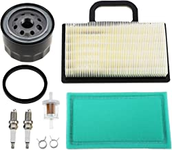 698754 273638 Air Filter 691035 Fuel Filter 696854 Oil Filter Spark Plug for Briggs Stratton Intek Extended Life Series V-Twin 18-26 HP Lawn Mower
