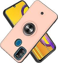 Funda para Samsung Galaxy M30S Soft TPU + Duro PC Doble Parachoques,Giroscopio Rotatorio,Botón de Descompresión, con Soporte de Anillo Funda Protectora Serie -Oro Rosa