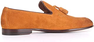 DOUCAL'S Men's DU1080CAPRUF068ORANGE Orange Leather Loafers