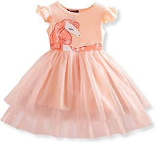 TTYAOVO Baby Girls Tulle Dress Toddlers Sleeveless Sundress Flower Princess Dress