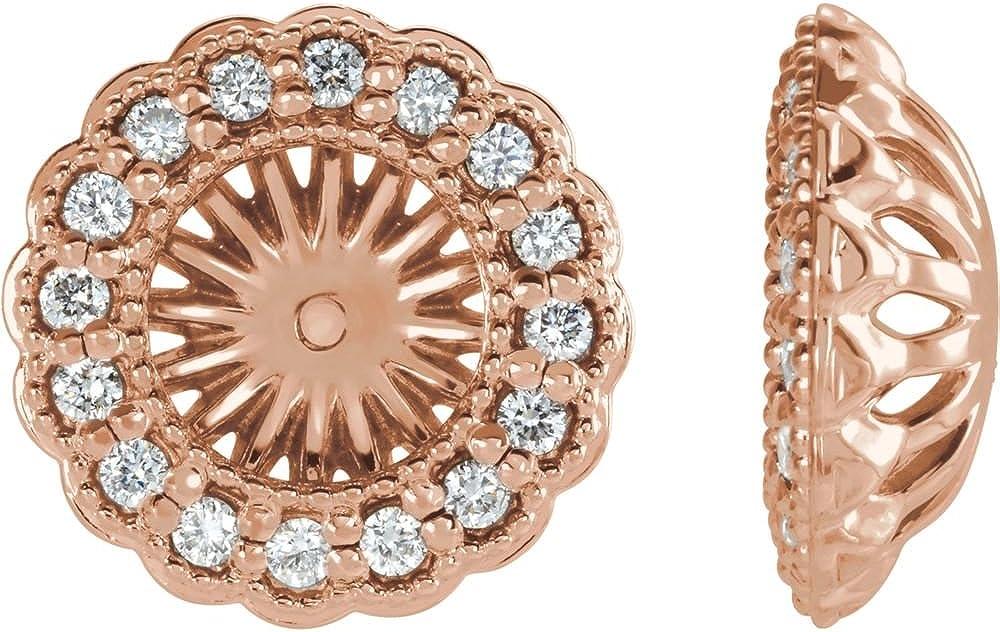 Jewels By Lux 14K White Gold 1/2 CTW Diamond Earrings Jackets