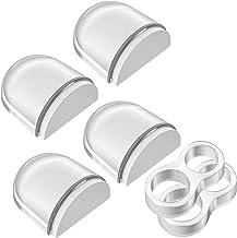 Aywne Deurstopper voor vloer, transparant, zelfklevend, 4 + 2 stuks