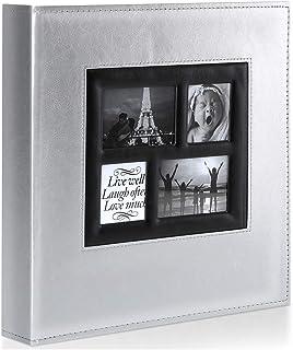 Ywlake Album Photo 1000 Pochettes 10x15cm Photos Grand Format Famille Mariage Classique Couverture en Cuir (100 Feuilles, ...