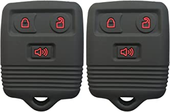 2Pcs Coolbestda Rubber 3buttons Smart Key Fob Protector Remote Skin Cover Case Keyless Entry Jacket for Ford F150 F250 F350 Explorer Ranger Escape Expedition