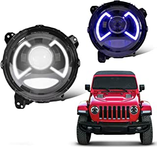 MOSTPLUS Full LED Projector Headlights for Jeep Wrangler JL/JLU/Gladiator 2018 2019 Front Lamps Assembly