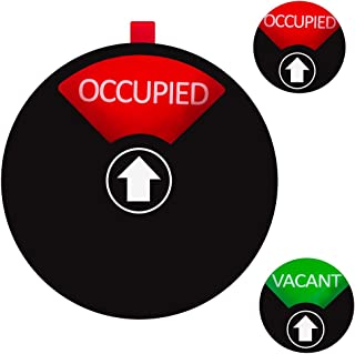 Kichwit Privacy Sign for Offices or Homes - Do Not Disturb Sign, Restroom Sign, Office Sign, Conference Sign, Vacant Sign, Occupied Sign - Tells Whether Rooms are Vacant or Occupied, 4 Inch, Black