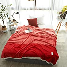 Thicken Bedspread Flannel Fleece Throw Blankets Super Soft Fluffy Warm Solid Bed Throws for Sofa Microfiber Blanket 180x200cm