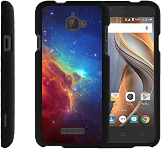 TurtleArmor | Compatible with Coolpad Case | 3622A Case [Slim Duo] Two Piece Hard Cover Slim Snap On Case on Black - Colorful Nebula Galaxy