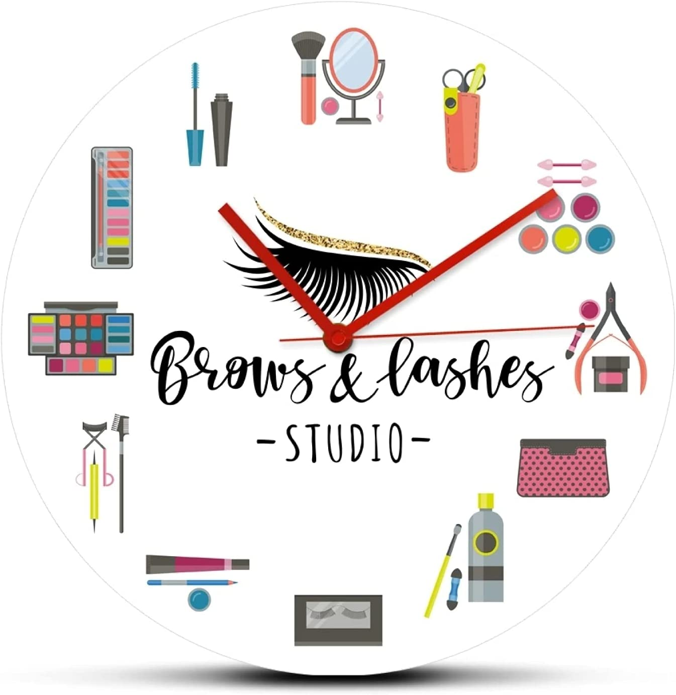 Wall Clock Make-up Cosmetic Tools Acrylic Clocks Brows a Attention brand Cheap SALE Start Printed