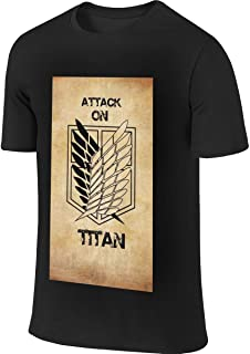 REVESS Men's Design Casual Tee Shirt Attack On Titan Scout Legion Logo T Shirts