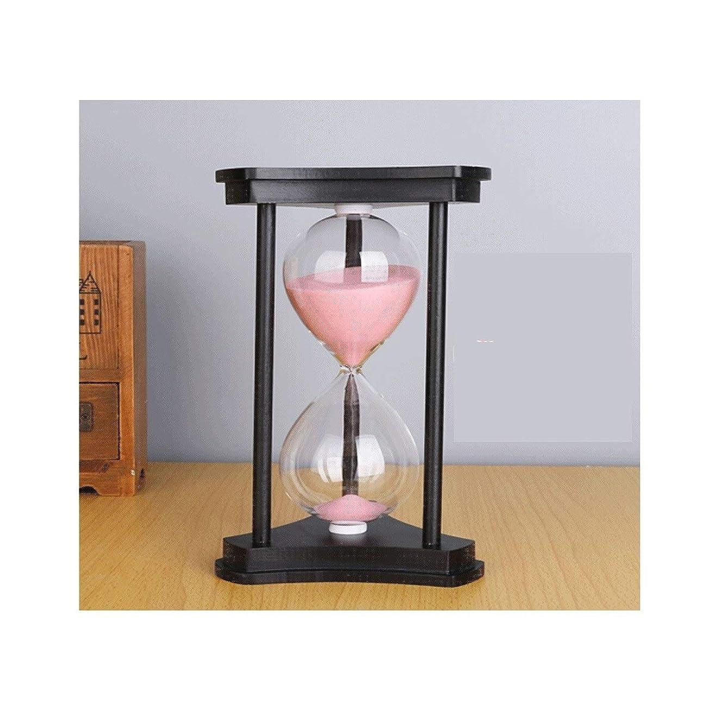多様性キルト写真撮影PFJJ 砂時計、レトロな3列の創造的な砂時計、使用可能/タイマー(15/30/45/60分にスケジュール可能)/ホームオフィスの創造的な装飾 (Color : Pink, UnitCount : 30min)