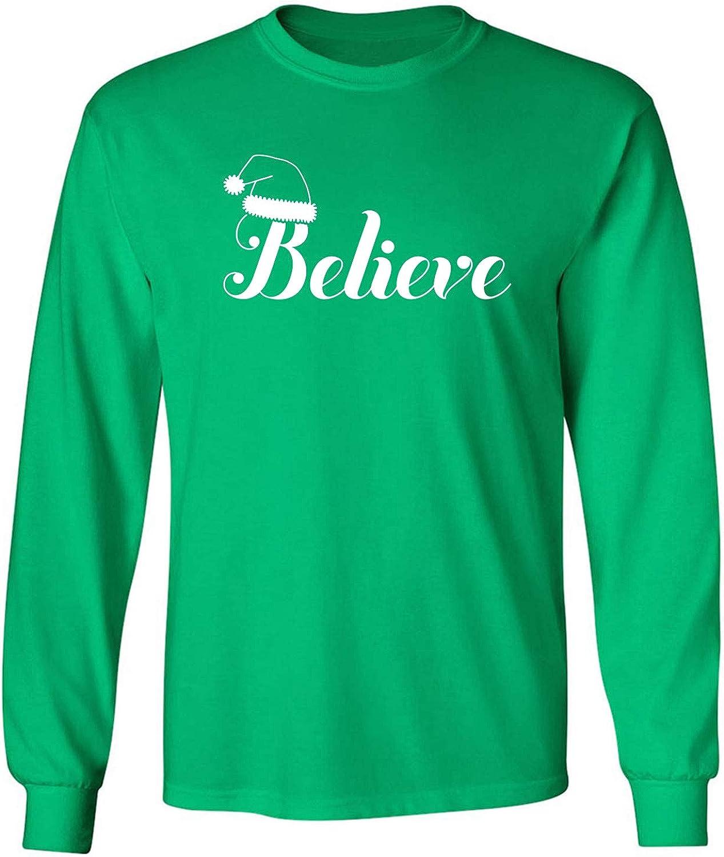 Believe Adult Long Sleeve T in Kelly Green - XXX-Large