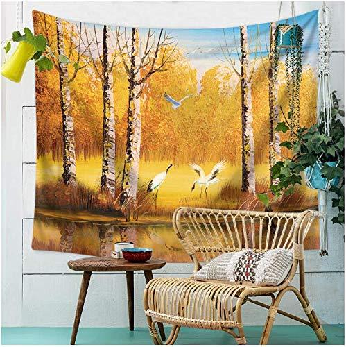 Landschaftsmalerei, Wandteppich, Wandteppich, Strandtuch, Dekoration, Tagesdecke, Yogamatte, Picknick, Stoff, 200 x 150 cm