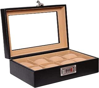 Laveri Glass Top Watch Box, Black