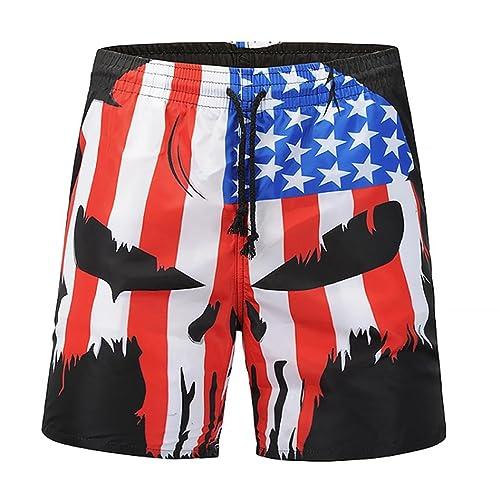 1870f03c7d55 Inverlee Men Trouser Casual Skull Flag Printed Beach Work Casual Men Short  Trouser Shorts Pants