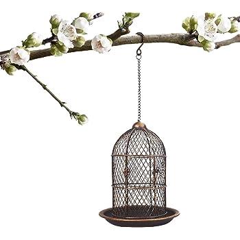PETRIP Bird Feeders for Outside Wild Bird Feeder for Finch, Cardinal Bluebird Hummingbird feeders for Outdoors, Cat-Shaped Antique Patio Decor