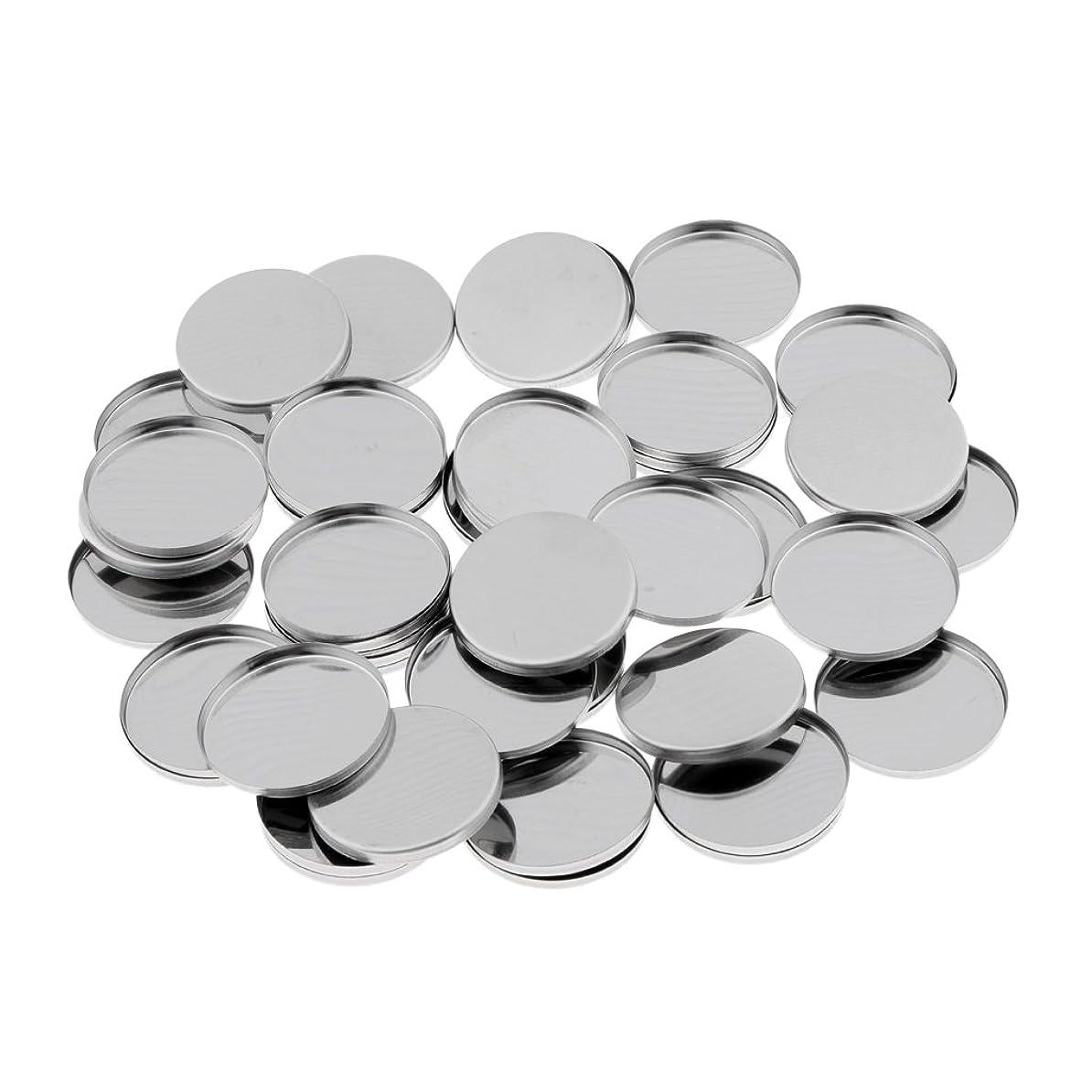 ファンブル印刷する高さKesoto 約50個 メイクアップパン ラウンド 磁気 DIY 化粧品 収納容器 空パン 金属 便利 旅行