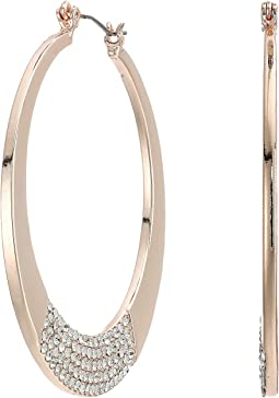 Hoop Earrings with Pave Bottom