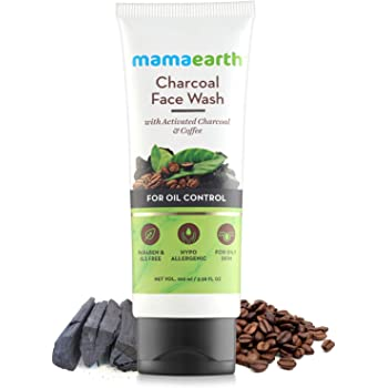 Mamaearth Charcoal Natural Face Wash for oil control and pollution defence 100 ml - For Oily Skin - SLS & Paraben Free