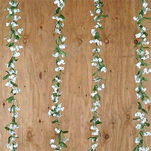 BalsaCircle 36 ft White Baby Breath Garlands - 6 Garlands - Wedding Party Centerpieces Arrangements Bouquets Supplies