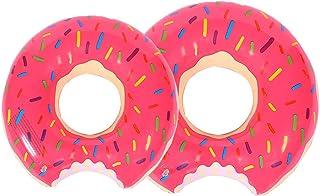 liuer Donut Anillo de natación Inflable 2PCS Flotador Buñuelo Piscina Verano natación Anillos Agua Pool Float Juguetes inflables para Adultos y niños de natación Playa o Piscina baño Juguete(Rosado)