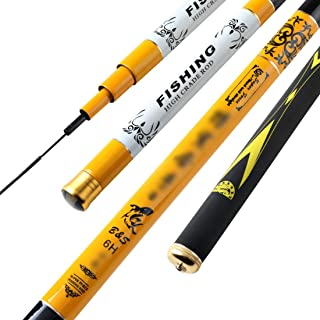 LUKEEXIN Fishing Rod Fishing Supplies Fishing Rod Ultra Light Super Hard 19 Seaside Tuna Fishing Rod Suitable for Pond Riverside.