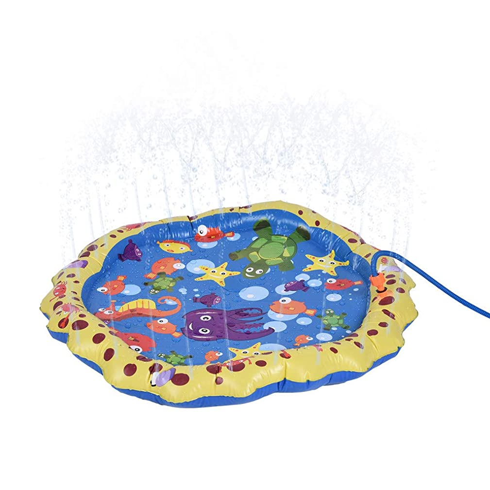 God's Pen Swim Ring - 38in Diameter Small Size Can Spray Water Kiddie Wading Pool. (A)