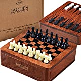 Set de Ajedrez 3 en 1 con Set de Backgammon y Drafts Set 12cm - Jaques of London