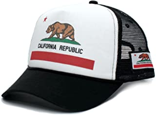 1bd0b09b Custom California Republic State Flag Cali Unisex-Adult Trucker Hat Multi
