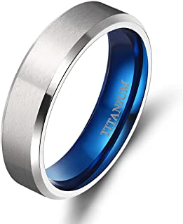 خاتم تايجريد من التيتانيوم 4 مم 6 مم 8 مم 10 مم خاتم زفاف في راحة تناسب الرجال النساء
