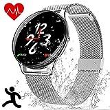 Smartwatch Deportes Impermeable - Reloj Inteligente con Corriendo Pulsómetro Cronómetro Monitor de Sueño Podómetro Control Música Camara, Pulsera Fitness Tracker para Hombre Mujer Niño Estudiante