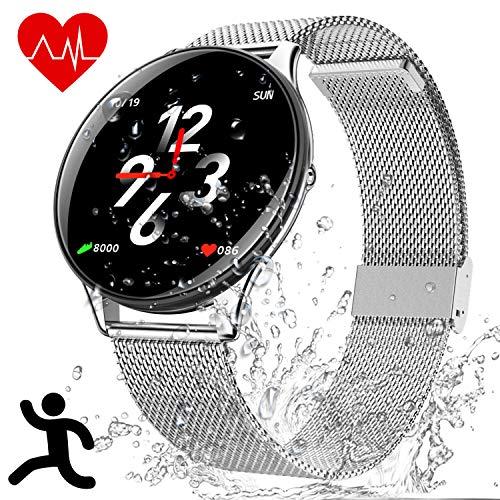 Orologio Intelligente Bluetooth IP68 Impermeabile - Smartwatch Bluetooth Fitness Tracker, Smart Bracciale con Calorie Heart Rate Sleep Monitor Pedometro, Sport Wristband Compatibile per iOS Android