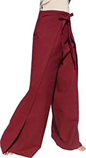 Brand Plain Cotton Thai Drive in Wrap Around Pants Wide Cut Casual