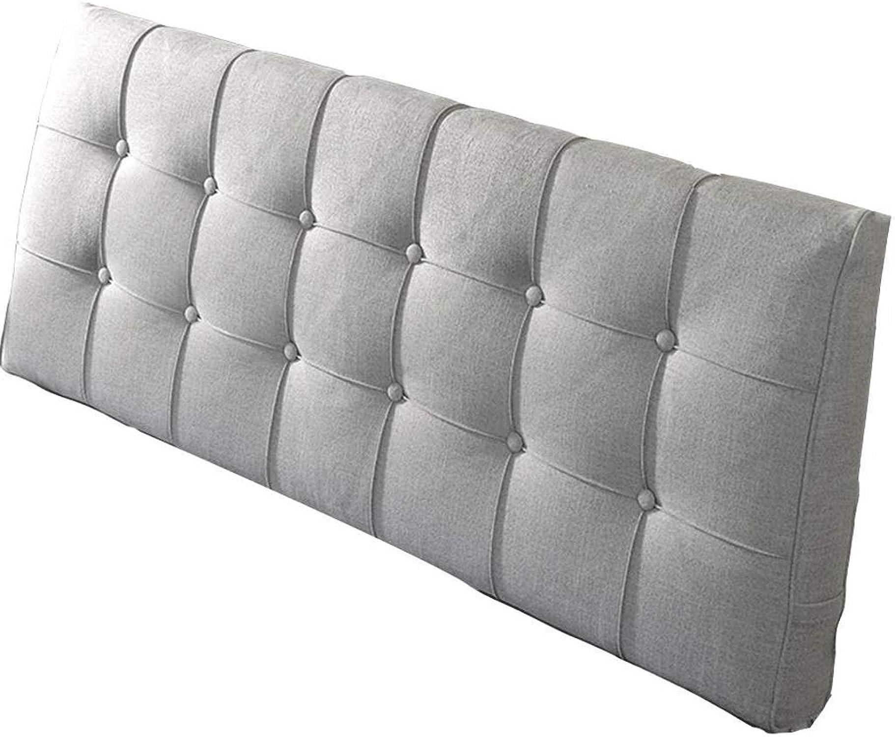 Coussin de tête de lit en lin éponge support double oreiller de tête de lit extra grand rembourré (5 couleurs, 9 tailles) (Couleur   B, taille   150x60x10cm)